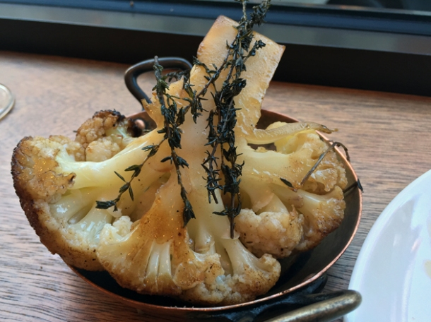 roasted cauliflower with thyme at portland