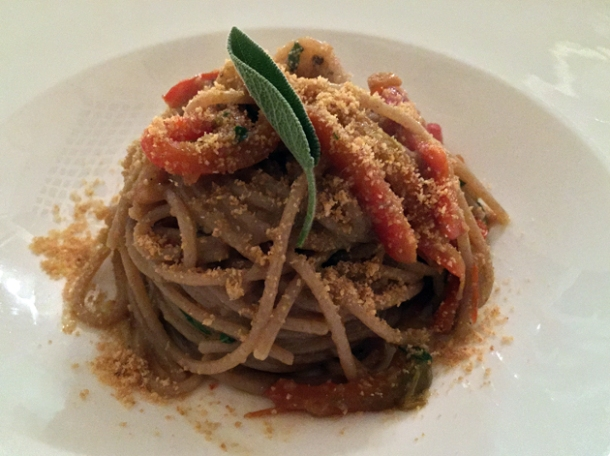 spelt spaghetti at il sanlorenzo