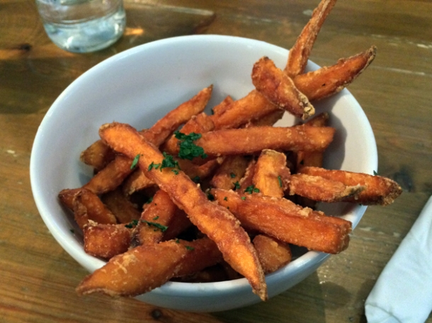 sweet potato fries at the thirsty bear