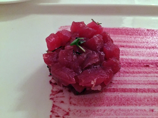 tuna - raw fish selection at il sanlorenzo