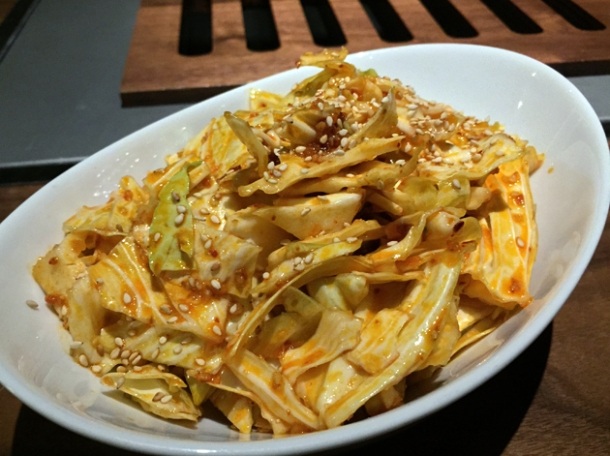 crispy addicting cabbage at kintan