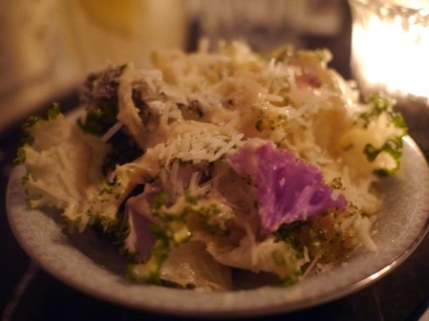 kale and parmesan at blacklock