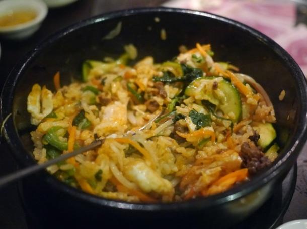 mixed beef bulgogi bibimbap at jin go gae