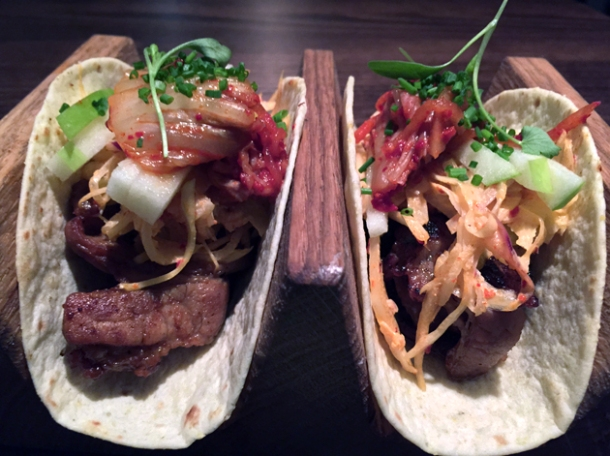 pork belly tacos at jinjuu