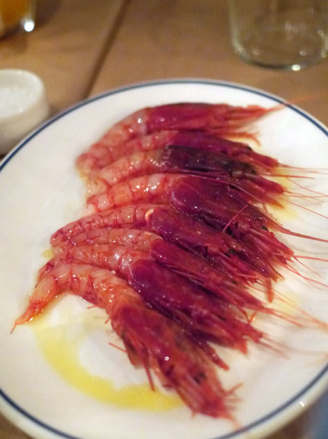 red prawns at rex and mariano