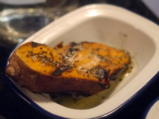 smoked sweet potato at blacklock