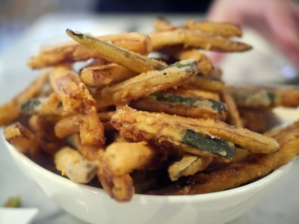 courgette fries at rex and mariano