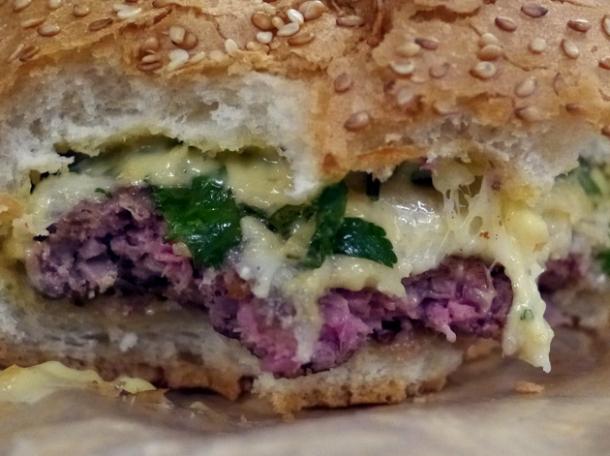 l'alphonse lamb burger at big fernand