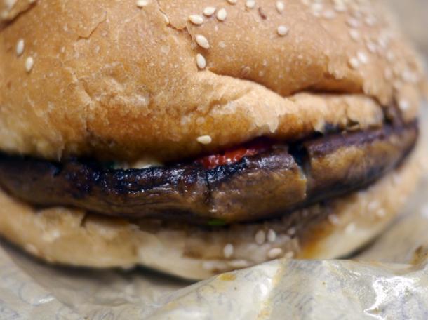 le lucien mushroom burger at big fernand