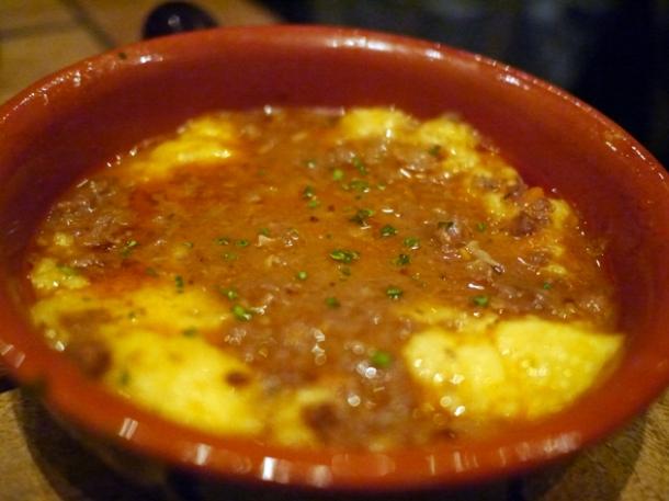 polenta with ragu at in parma
