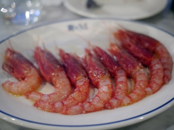 raw red prawns at rex and mariano