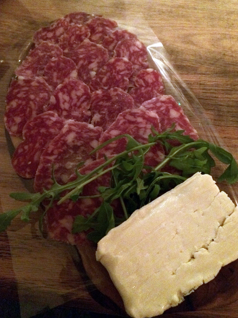 salami and tallegio at in parma