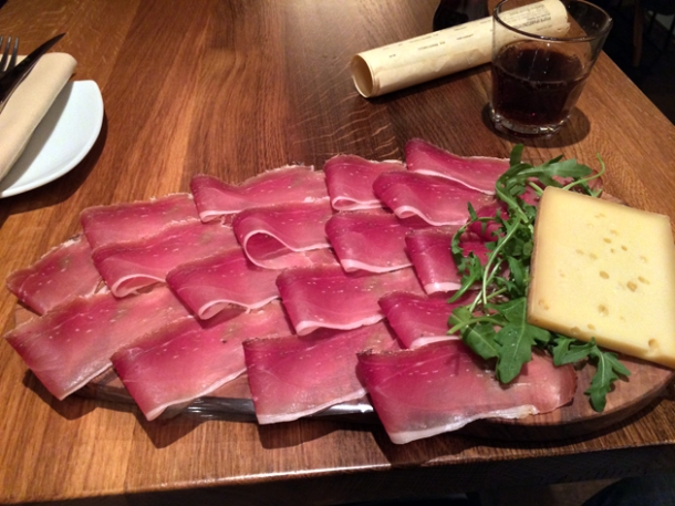 speck and fontina at in parma