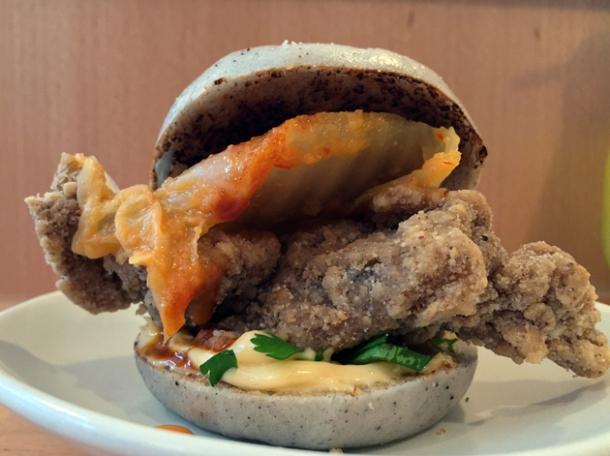 fried chicken gua bao at bao