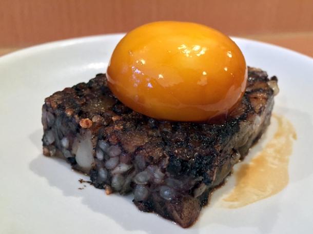 pig's blood cake at bao soho