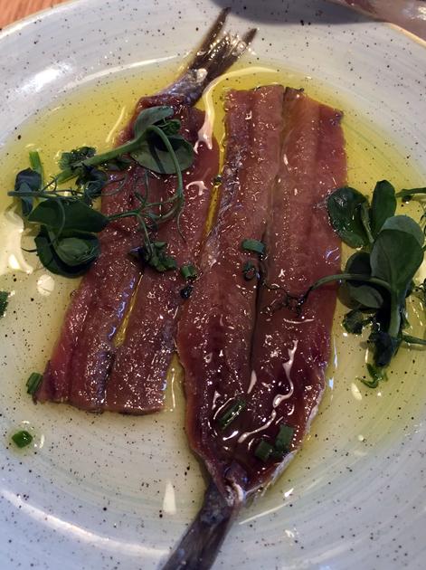 anchovies at morada brindisa asador