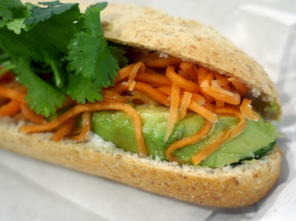 avocado banh mi at viet baguette