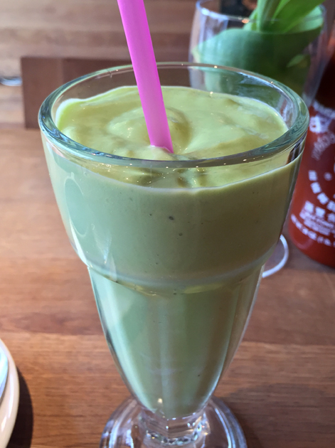 avocado milkshake at cyclo