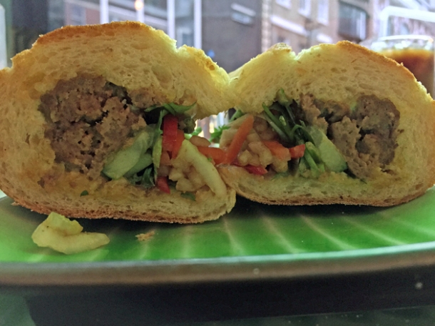 beef ball banh mi at keu soho
