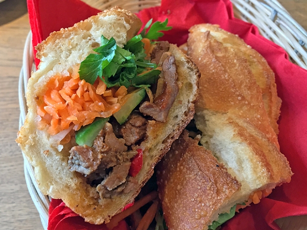 beef banh mi at cyclo