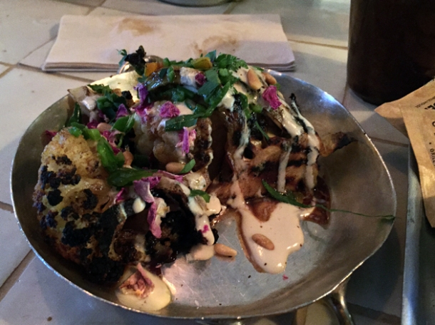 cauliflower shawarma at berber & q