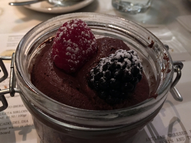 chocolate mousse at morada brindisa asador