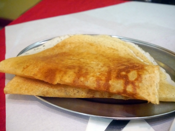 plain dosa at apollo banana leaf