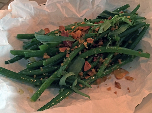 green beans at berber and q