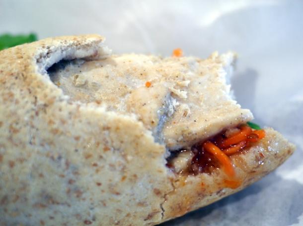 grilled chicken banh mi at viet baguette