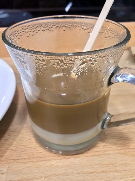 heavy sweetness vietnamese coffee at carrots and daikon