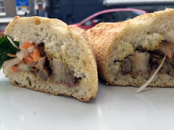 house special banh mi at carrots and daikon
