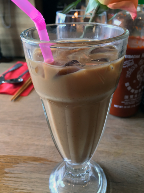 iced vietnamese coffee at cyclo
