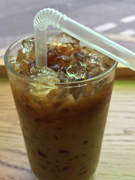 iced vietnamese coffee at keu soho
