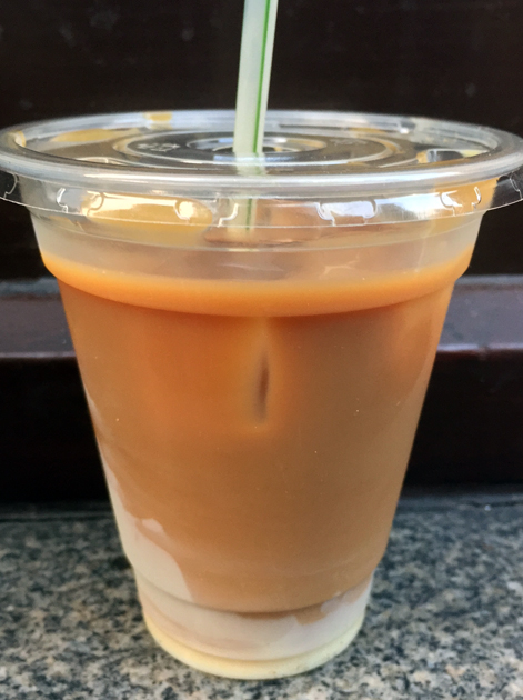 iced white vietnamese coffee at whaam