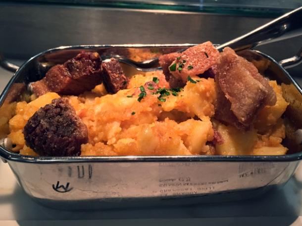 potatoes and pork at morada brindisa asador