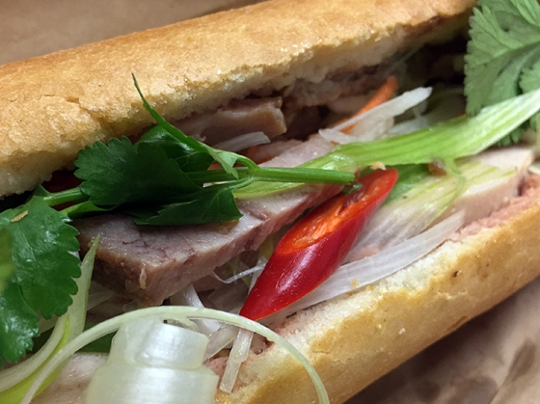 shredded pork banh mi at east street