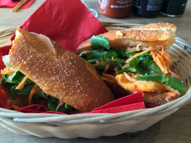 tofu banh mi at cyclo