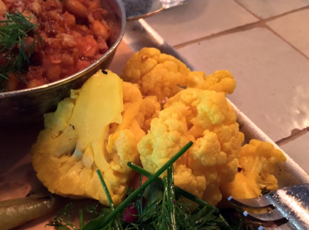 turmeric cauliflower at berber and q