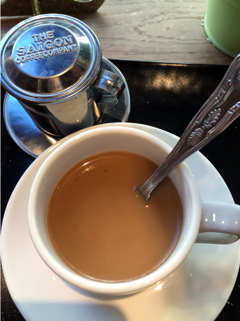 Vietnamese coffee at bun cha hoxton