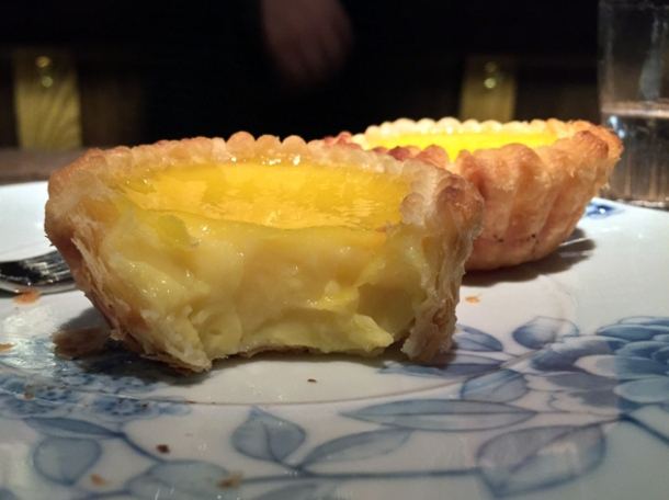 egg tart at the duck and rice