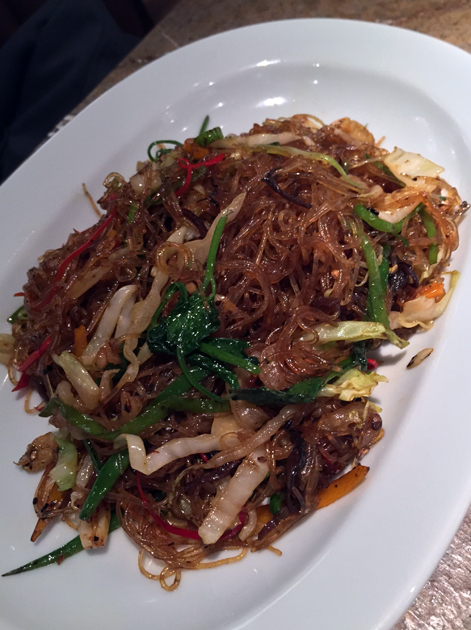 glass noodles at the duck and rice