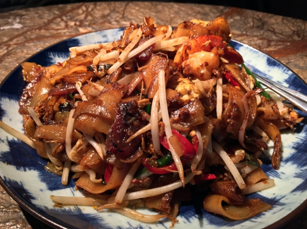 malaysian char kway teow at the duck and rice