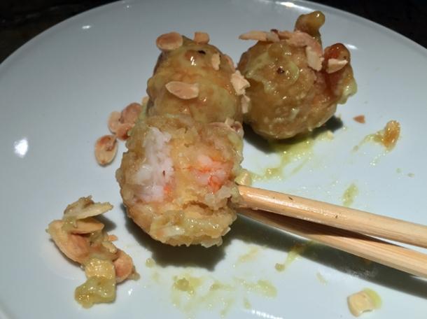 wasabi prawns at alan yau duck and rice