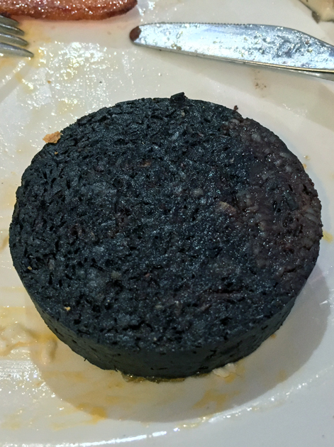 black pudding at the perfectionists' cafe heathrow terminal 2