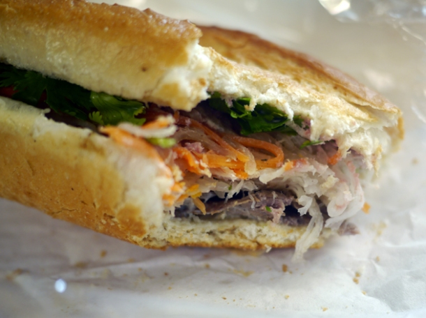 beef vietnamese baguette from banh mi town