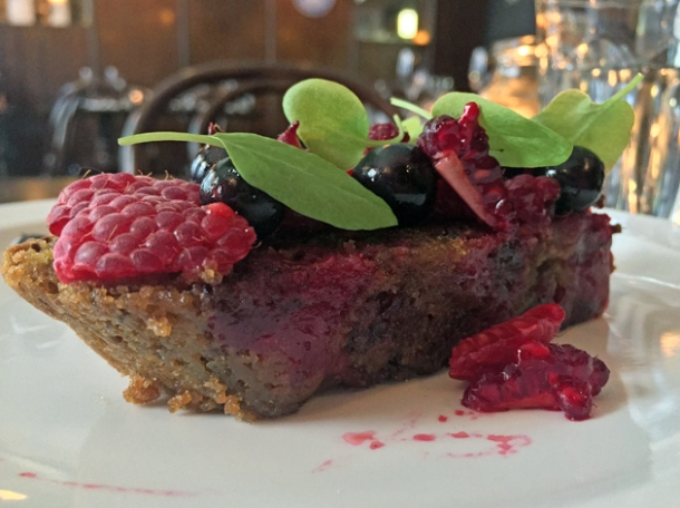 blackcurrant and beetroot cake at the newman arms cornwall project