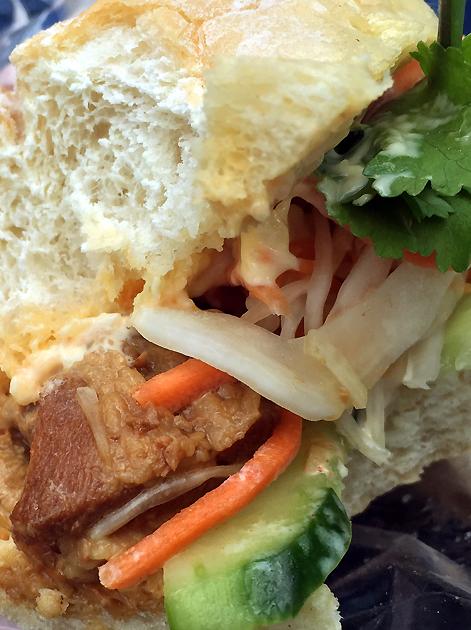 braised pork banh mi from moc kitchen