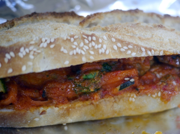 butternut squash and zucchini sandwich from moba