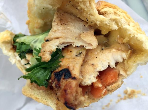 chicken banh mi from vietnamese street food whitecross market
