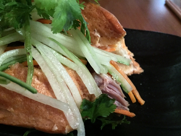 duck vietnamese baguette at house of ho